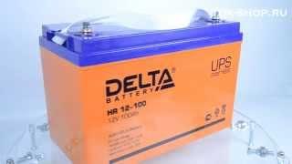 Delta HR 12-100  - видео обзор AGM аккумулятора