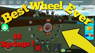 Wheel With 16 Springs Build A Boat For Treasure (Best Wheel) Roblox