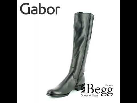 41a5aebe85d Gabor Brook Slim Leg 91.648.27 Black knee-high boots