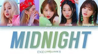 Exid (이엑스아이디) - midnight (나의밤) (han|rom|eng) color coded ...