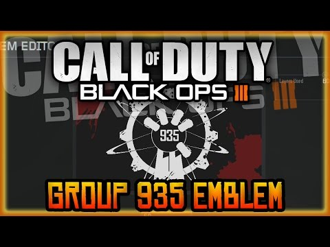 Black Ops 3 - AWESOME CUSTOM EMBLEM, GROUP 935 ZOMBIE EMBLEM