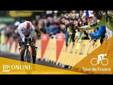 Tour de France 2017: Fans trotzen Regen beim Zeitfahren