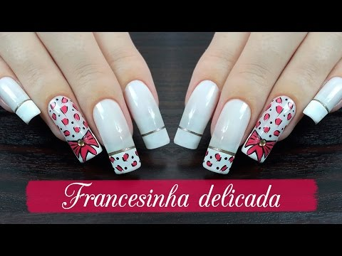 UNHAS DECORADAS FRANCESINHA DELICADA - Ideia Rosa