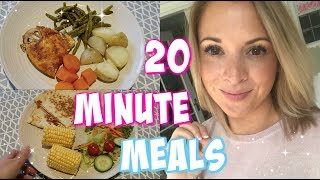 20 minute, quick and easy family meal ideas!