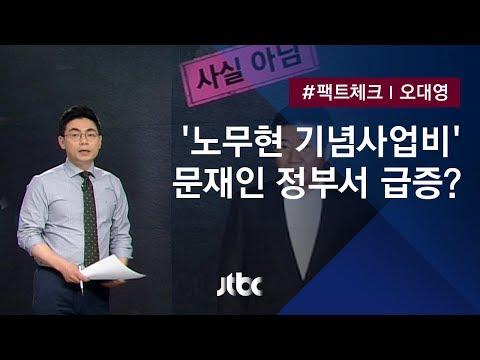 [팩트체크] 문재인 정부 들어 '노무현 기념사업비' 급증?