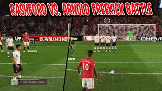 ARNOLD vs. RASHFORD Freekick Battle! Absolut kranke Freistöße vs. Bruder! - Fifa 20 Ultimate Team