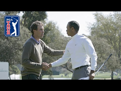 Tiger Woods defeats Stephen Ames 9&8 at 2006 WGC–Dell Match Play