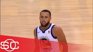 top 10 warriors plays of 2017 18 steph kd and klay miss out on top spot sportscenter espn