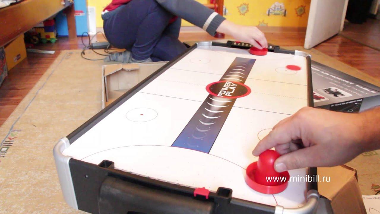 Настольный аэрохоккей TableTop Air Hockey - YouTube