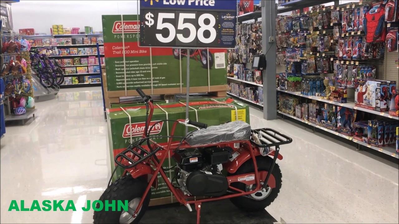 400e50d13ab Alaska Walmart - Coleman Powersports CT200U Mini Trail Bike - YouTube