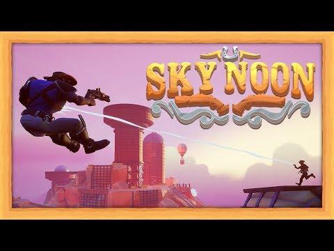 AIR POWERED COWBOYS!! - Sky Noon (4 Player Gameplay) |