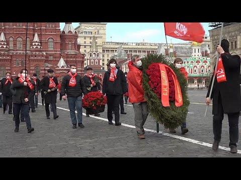 Sovyetler Birliği'nin kurucusu Lenin, 150. doğum gününde koronavirüs kısıtlamaları gölgesinde anı…