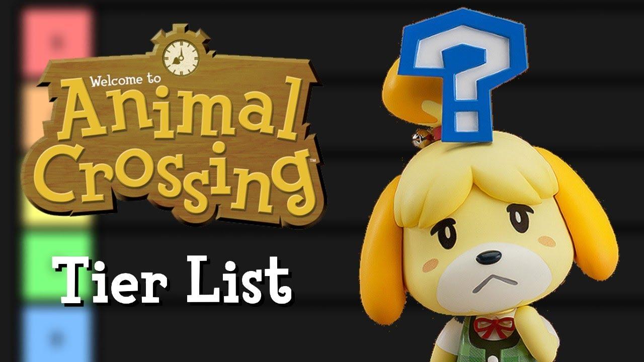 animal crossing characters tier list
