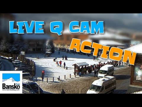 BANSKO BULGARIA SKI GONDOLA LIFT: Live Queue Cam ACTION!! HD Livestream Lift Q & BUS Q (2018 & 2019)