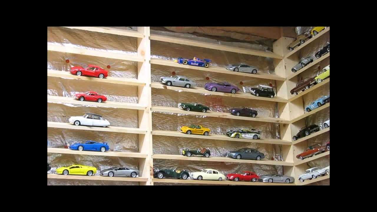 1 18 scale model collection youtube rh youtube com model car shelving model car shelf