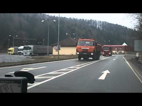 Driving from Demanovska dolina, Jasna, Slovakia to Obcov, Pribram, Czech Republic