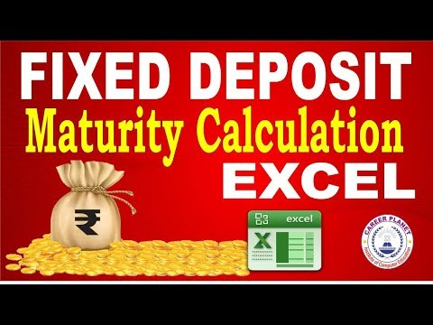 Excel- Fixed Deposit Maturity Calculation Part-4 | Learn Excel for Accountants