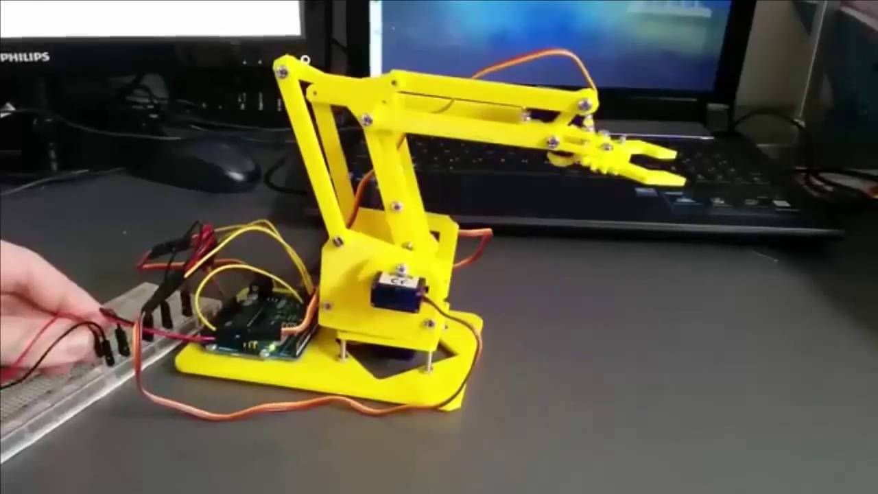 Boyutlu yazıcınızla yapabileceğiniz arduino robot