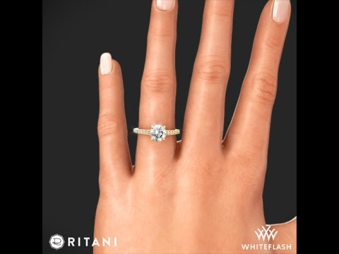 Ritani 1RZ1888 Classic d Prong Diamond Band Engagement Ring