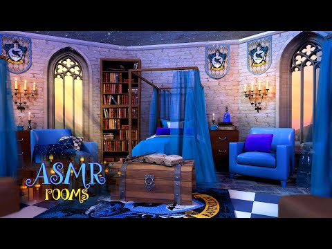 Harry Potter Inspired Ambience - Ravenclaw Dormitory - 4K UHD 1 Hour Soundscape & Animation