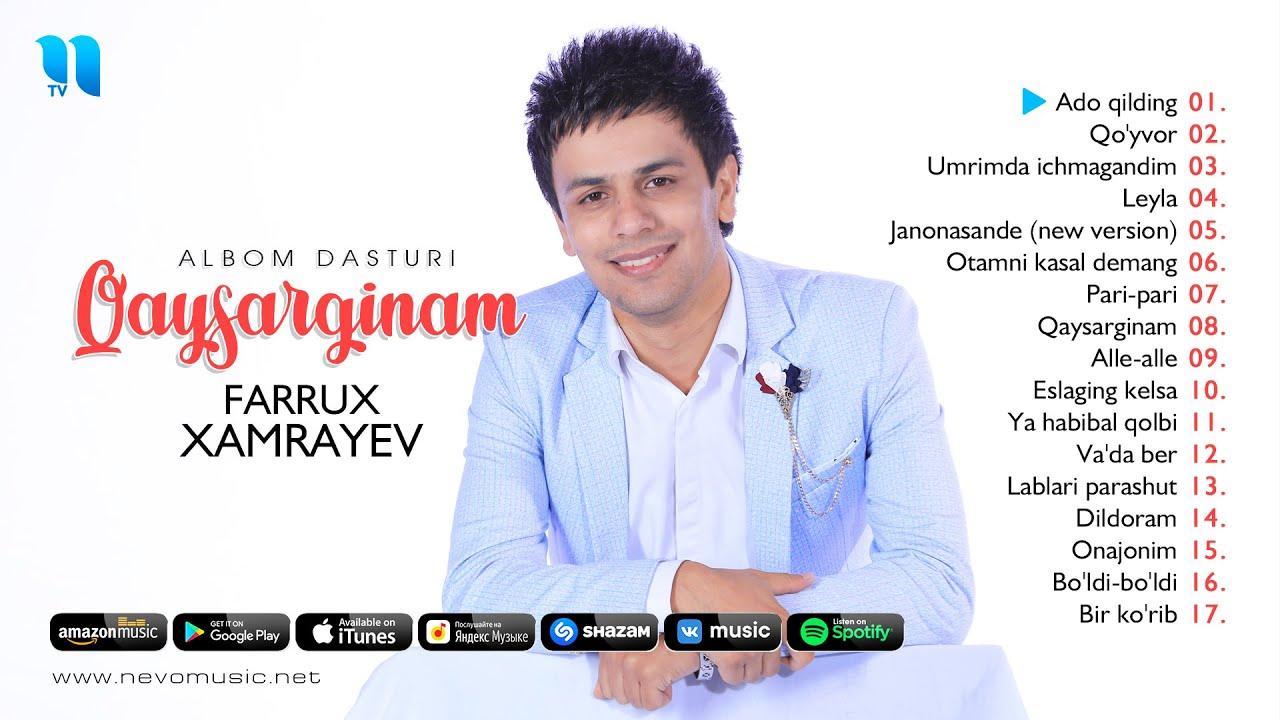 Farrux Xamrayev - Qaysarginam nomli albom dasturi 2019