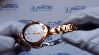Romanson RM4208LRG WH часы женские кварцевые видео обзор
