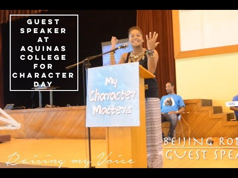 Raising My Voice | Aquinas College - Character Day | Nassau, Bahamas Sept 2016