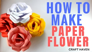 How To Make Paper Flower - Easy Origami Flower Tutorial for Beginners - DIY Crafting