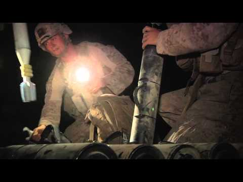 1/7 Marines Night Mortar Mission In Afghanistan