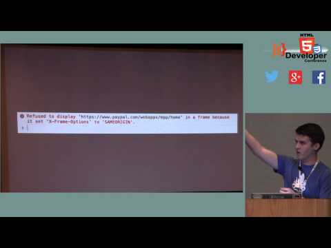 HTML5DevConf May2014: Mark Stuart, PayPal: Web Security in Node.js and JavaScript Apps (SPAs)
