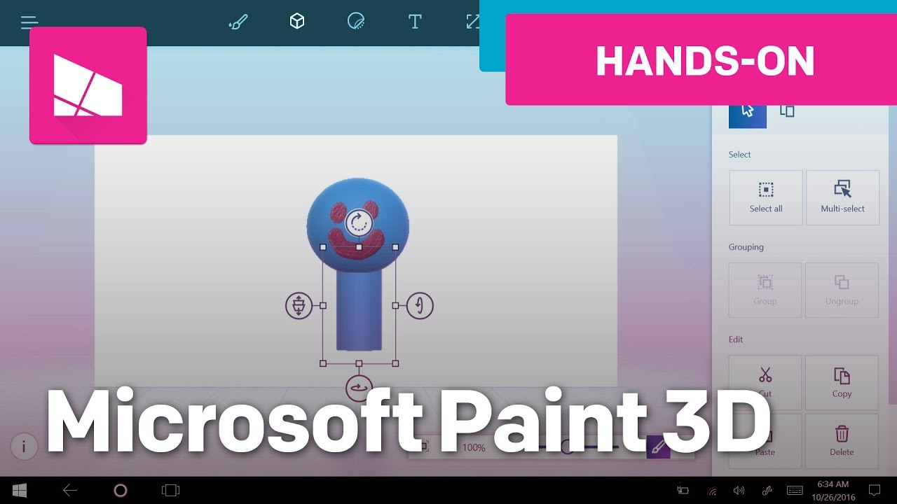Hands on with microsoft paint 3d the next version of for How to paint 3d