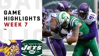 Vikings vs. Jets Week 7 Highlights | NFL 2018