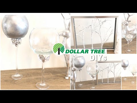 4 DOLLAR TREE DIY GLAM Decor Ideas