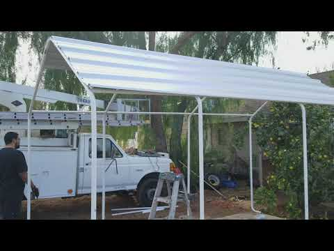harbor freight portable garage into permanent structure part 6