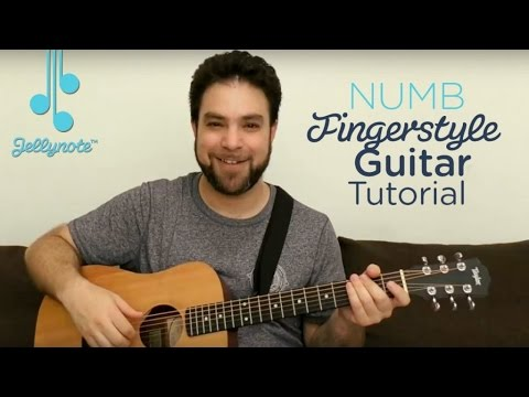 Intro of Numb by Linkin' Park - Adding Melody - Fingerstyle Guitar tutorial (Jellynote)