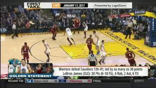 Cleveland Cavaliers demolished by Golden State Warriors in a blow out