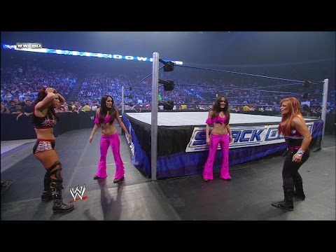 Nikki Bella makes her debut as The Bella Twins' secret is out : SmackDown, Nov. 7, 2008 thumbnail