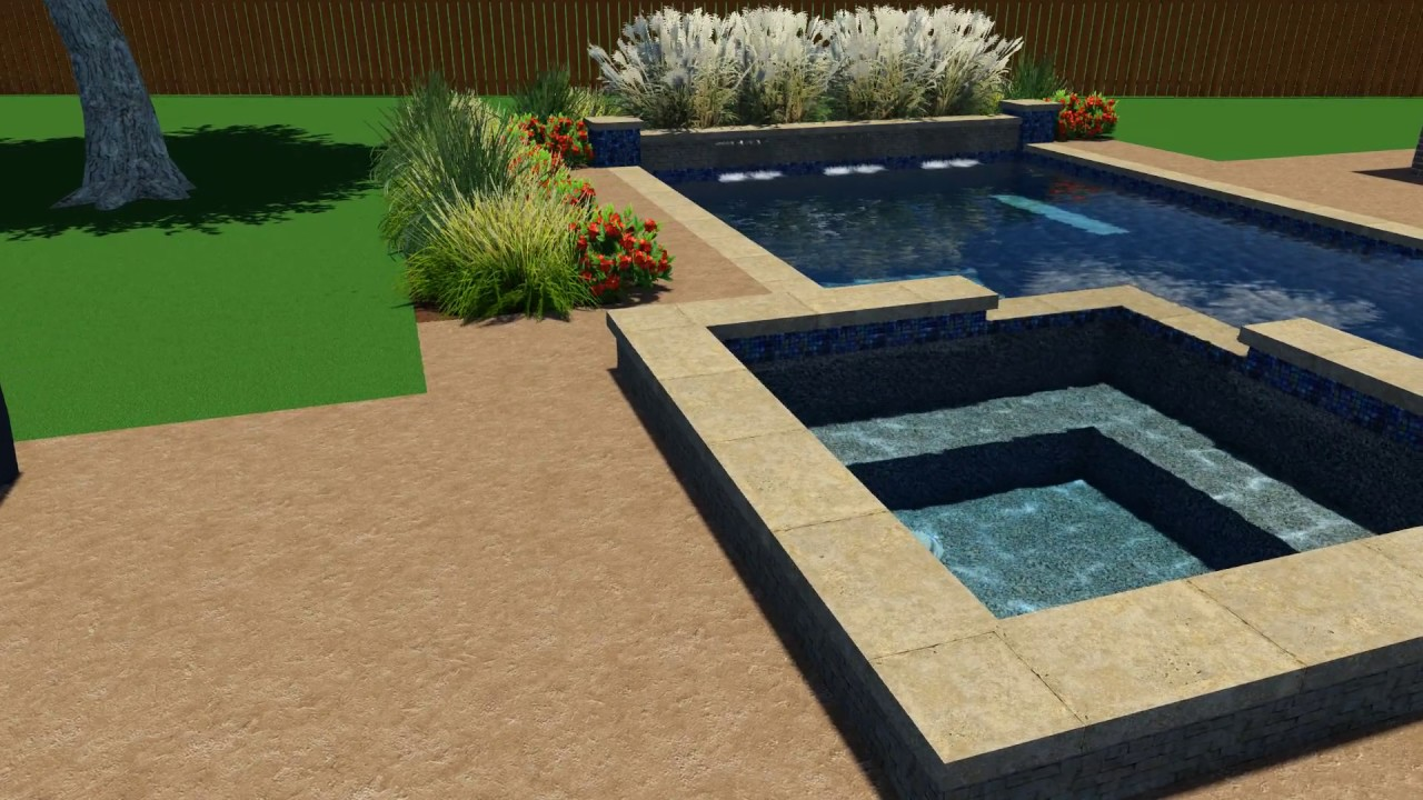 Fowler Pool Design by Backyard Amenities - YouTube