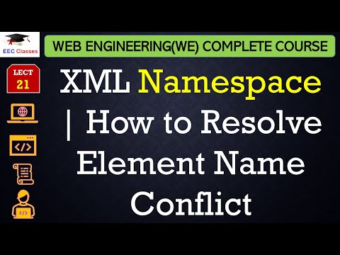 XML Namespace with Example in Hindi | How to Resolve Element Name Conflict