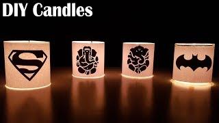 DIY beautiful candles - Easy way.