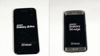 Samsung Galaxy J5 Pro 2017 Vs Galaxy S6 Edge - Speed Test { Urdu/Hindi } (4k)