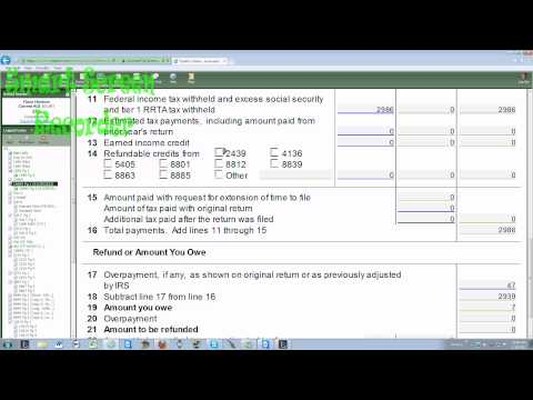 How to do an amendment - 1040x and 201x