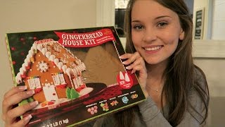 ASMR Building a Beautiful Gingerbread House