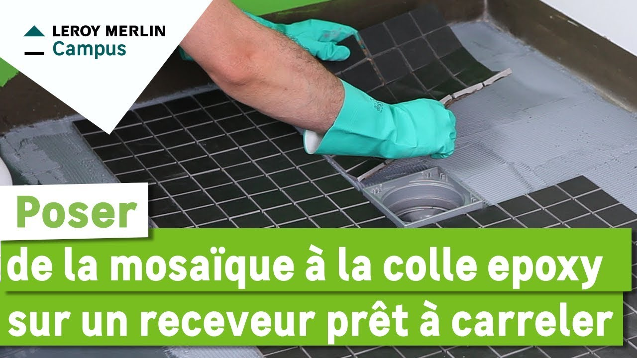 Comment poser de la mosa que la colle poxy sur un for Colle sur carrelage