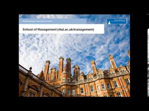Sir Alec Reed on the Founding of the School of Management