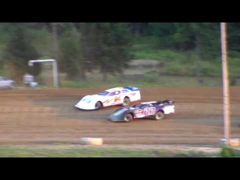 Dog Hollow Speedway - 8/5/16 Crate Late Model Heat Race #2