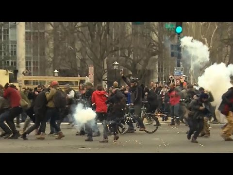 Protests against President Trump break out across the U.S.