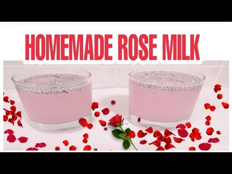 HOW TO MAKE ROSE MILK/ SINGAPOREAN ROSE MILK DRINK/ BANDUNG ROSE MILK/HOMEMADE ROSE MILK