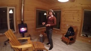 видео печь в каркасном доме