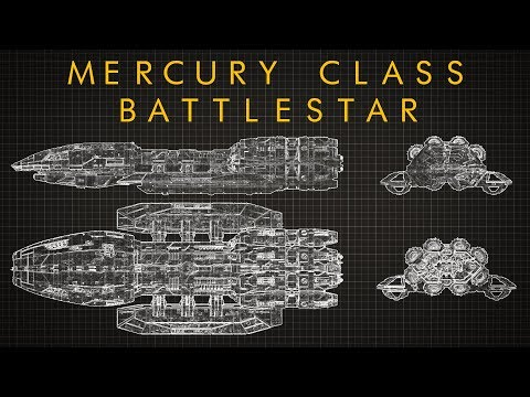 Battlestar Galactica: Mercury Class Battlestar - Ship Breakdown